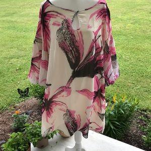 XL Charmed by Nancy Rose Flowy Sheath Dress